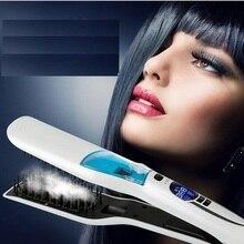 Профессиональный паровой быстрый выпрямитель для волос, расческа с распылителем, плоский утюг для выпрямления волос, щетка для выпрямления волос с ЖК-дисплеем, инструменты для укладки волос