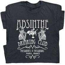 Camiseta con gráfico de Absinthe Paris France, camisetas Vintage para beber cerveza, camisetas de hadas, tallas y colores