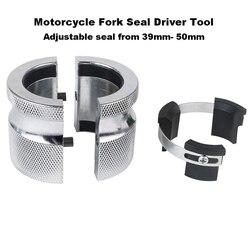 A ferramenta ajustável 39mm-50mm do motorista do selo da forquilha da motocicleta selos do óleo instala trabalhos da ferramenta em ambos os garfos invertidos convencionais instal