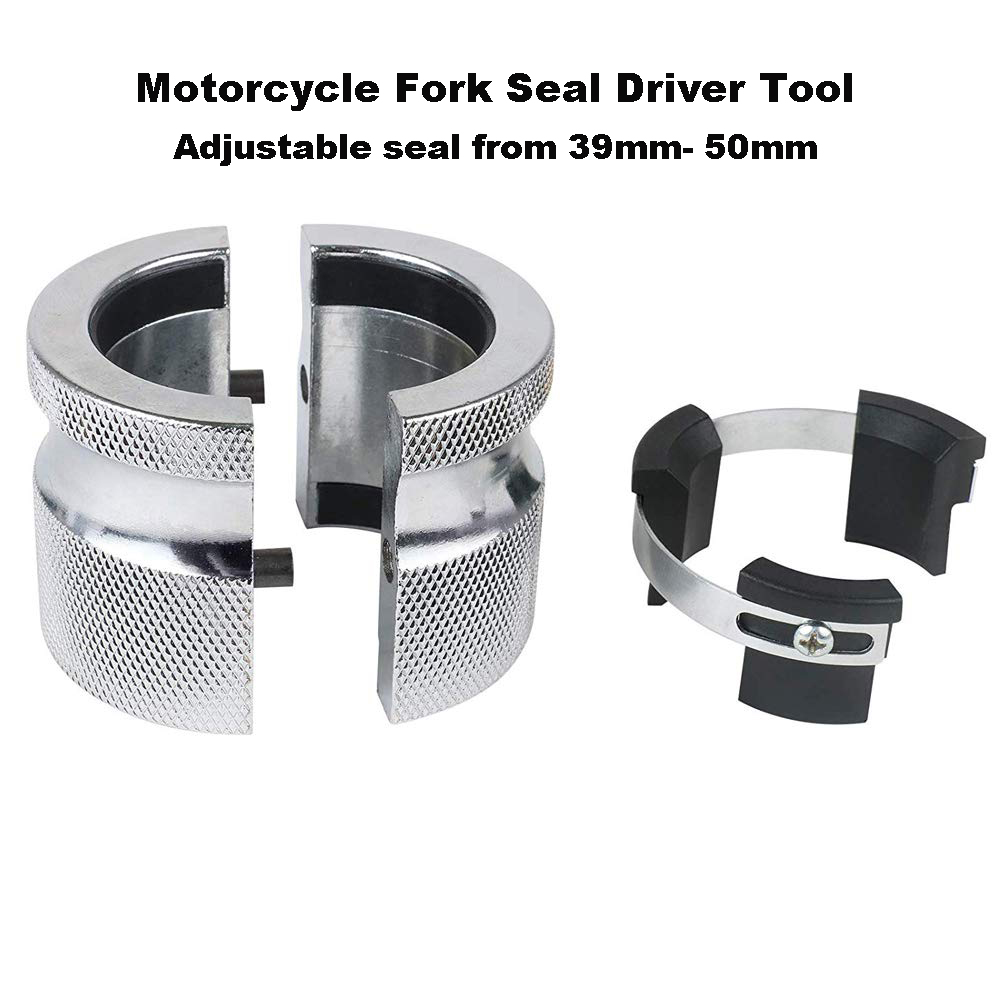 Motorcycle Fork Seal Driver Tool Adjustable 39mm-49mm Oil Seals Install Tool Works On Either Conventional Inverted Forks Instal