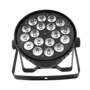 Image 2 - 18x12W RGBW Led Par Light DMX Stage Lights Business Lights Professional Flat Par Can for Party KTV Disco DJ Uplighting