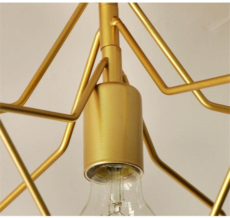 H71e075b6709344129278bef71e8e8422m Creative Pentagram Iron Industrial wind Ceiling Light Retro circle E27 Black/Gold Ceiling Lamp For Restaurant Bar Coffee Shop