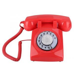 Image 3 - ヴィンテージ電話レトロ固定電話ロータリーダイヤル電話デスク電話コード電話機のためホームオフィス品質