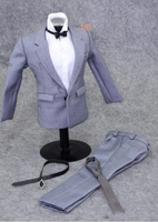 1/6 Scale Gray Male Suit Set Clothes for 12 inches Male Action Figure