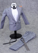1/6 Scale Gray Male Suit Set Clothes for 12 inches Action Figure