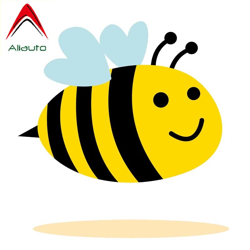 Funny Bee Cartoon Car Bumper Sticker Decal 4/'/' x 5/'/'