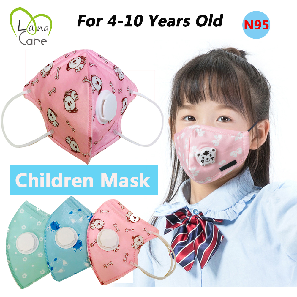 4-10 Years Children N95 Face Mask Cotton PM2.5 Adjustable Active Carbon Reusable Face Mask Protective Anti Foam Kids Mask