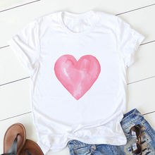 Футболка с принтом «любящее сердце» Для женщин футболка harajuku