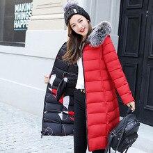 URSPORTTECH Brand Women Long Down Parka Reversible Jacket Wo