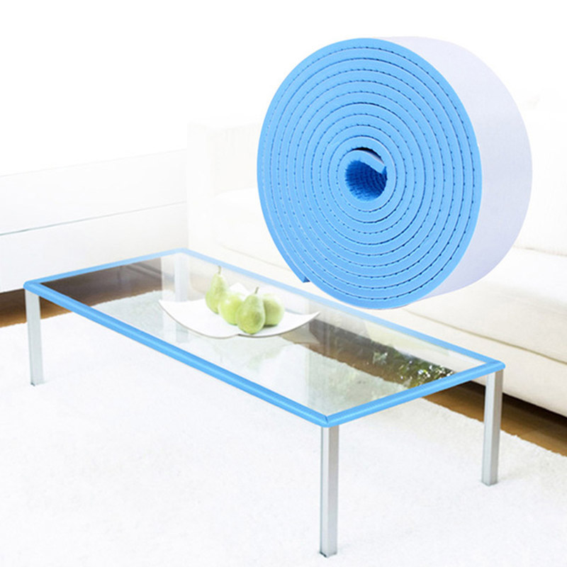 New Flat Protective Stripe 2M Table Corner Guards Child Safety Products Furniture Guard Strip Crash Bar Baby Safety Protective