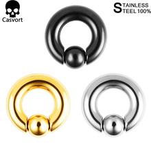 Casvort 2 pçs de aço inoxidável piercing cativo argola anéis tragus orelha túneis nariz encerramento mamilo barra lábios corpo jóias