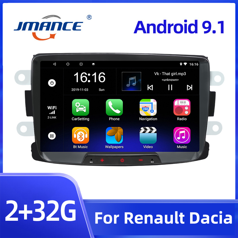Мультимедийная магнитола JMANCE, мультимедийная стерео-система на Android 9,1, с GPS, 8