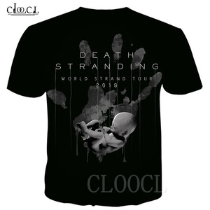 Image 4 - Populaire Game Death Stranding Zomer T shirt Voor Mannen Vrouwen 3D Print Anime Zwart Wit T shirt Toevallige Plus Size Hiphop streetwear