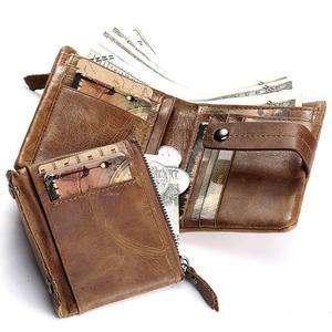 Image 4 - HUMERPAUL portefeuille en cuir véritable mode hommes porte monnaie petit porte cartes portefeuille Portomonee homme Walet pour ami sac dargent