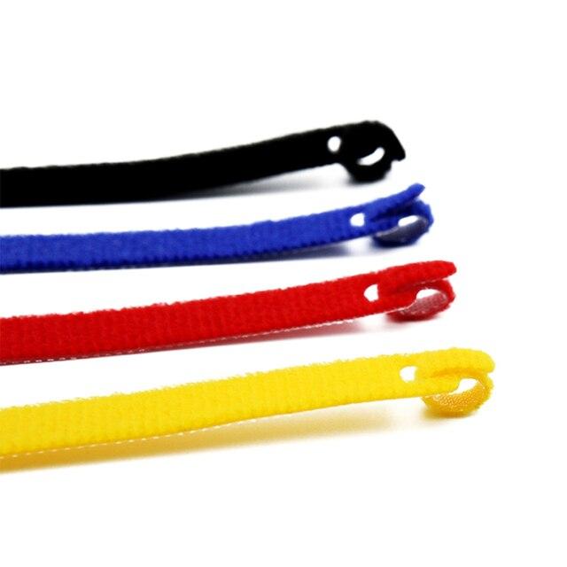 Фото 50 шт многоразовые цветные кабельные стяжки прямого типа нейлоновые