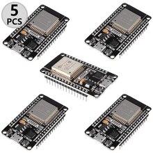 5 шт. ESP32 ESP-32S Wi-Fi макетная плата NodeMCU-32S микроконтроллер процессор интегрированному чипу CP2102 для Arduino IDE/SATA