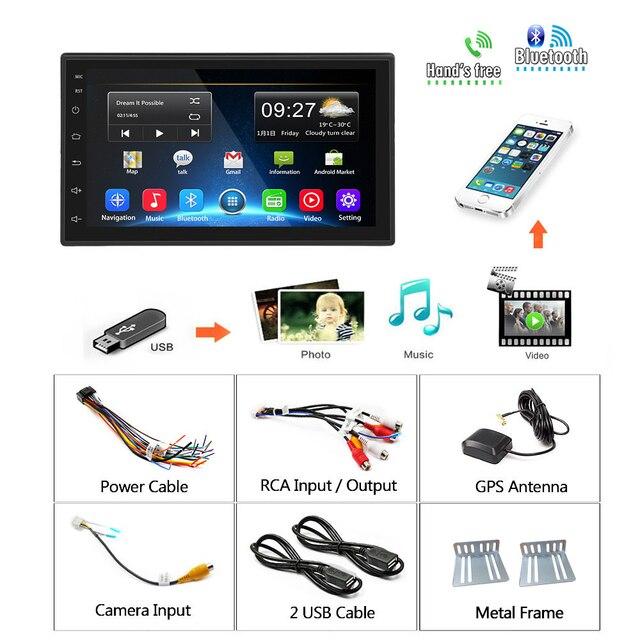 Podofo 2 din Android 9.1 Radio samochodowe odtwarzacz multimedialny GPS 7 dla volkswagena Nissan Hyundai Kia toyota LADA Ford Peugeot Honda