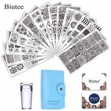 купить 15Pcs Different Desgins Nail Plates NaiL Art Stamp Stamping Plates With 1Pc Double-side Stamper DIY Image Manicure Tools Set по цене 1187.31 рублей