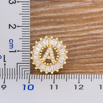 Fashion 26 Initial Letter Earrings Personalized Gift for Women Cute Alphabet AAA Cubic Zirconia Gold Stud Earrings Jewelry 1