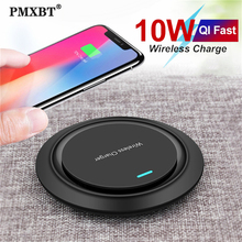 10W Qi Wireless Charger Induction Charging Pad For iPhone 11 Pro Max 8 Quick Fast Charge for Samsung Galaxy S9 S8 Plus Note 9/8 wireless charger mouse pad aluminum alloy charging mat for iphone x 8 8 plus samsung galaxy s8 8 88 dja99