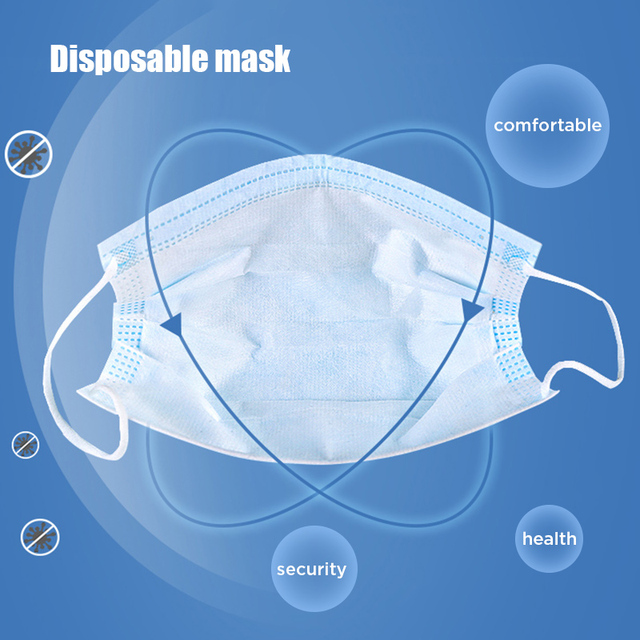 10pcs Dustproof Disposable Mouth Masks Earloop Face Mouth Nose Cover Masks Protection Anti Dust Flu Pollution 5
