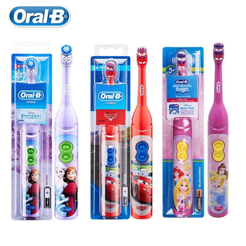 Oral b escova de dentes elétrica especial para crianças goma care oral limpo vibração rotativa cerda macia alimentado por bateria escova de dentes