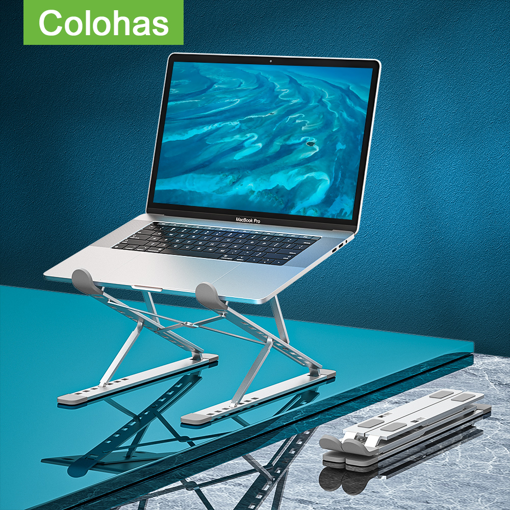 Adjustable Laptop Stand Portable Base Notebook Stand Support For Macbook Laptop Holder Computer Tablet Stand Laptop Table Stand 1
