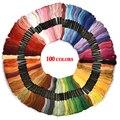 Multicolor Kreuz Stich Themen Baumwolle Nähen Stränge Stickerei Gewinde Floss Strang Kit DIY Nähen Werkzeug 24/36/50/ 100 stücke