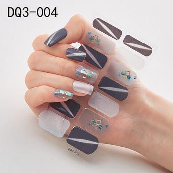 14pcs/sheet Glitter Gradient Color Nail Stickers Nail Wraps Full Cover Nail Polish Sticker DIY Self-Adhesive Nail Art Decoration 59