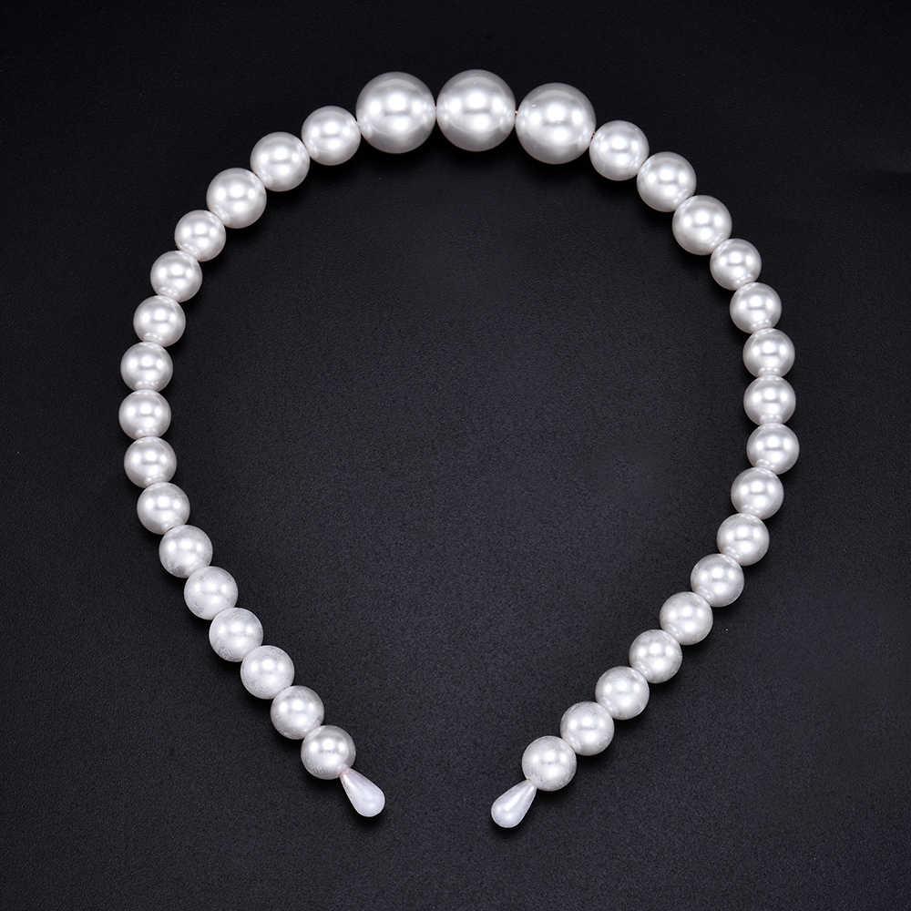 Nouveau luxe grande perle bandeau femmes arc tournesol cerceaux filles cheveux accessoires mode bijoux accessoires para el cabello mujer