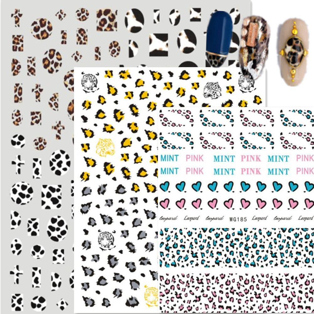 Newest WG 183 184 185 Design 3D Nail Art Sticker Decal Stamping Back Gule DIY Nail Decoration Tools