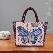 Женская сумка через плечо в стиле ретро с принтом слона и бабочки