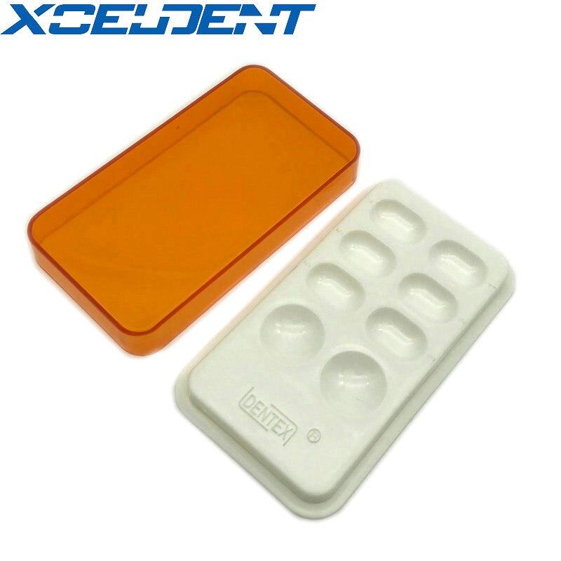 1pcs Dental Synthctic Acrylic Resin Teeth Shading Light Storage Box Color Toning Dentist Material