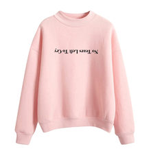 Womail Blackpink kpop sweatshirts harajuku Letter Print NO Tear Lefe to Cry Long Sleeve O-Neck Pullover streetwear 2019 T724(China)