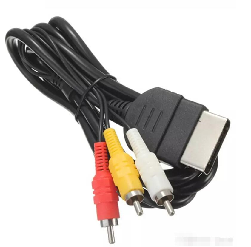 Replacement 6FT Audio Video Composite Cable AV 3 RCA Wire Cord For Xbox Original Classic