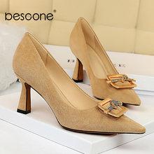Bescone/Новинка; Туфли лодочки высокого качества; Модные элегантные
