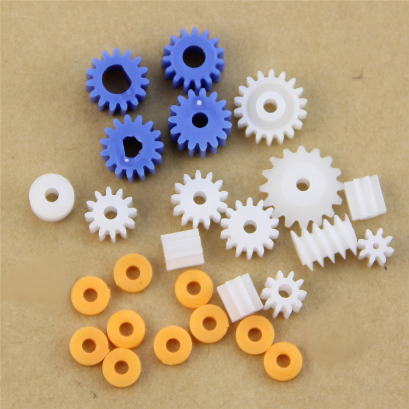 16 Kinds Shaft Gears Spindle Gears Gear-B 2MM 2.3MM 3MM 3.17MM 4MM Worm Plastic Drop Ship Support image