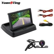 YuanTing كاميرا احتياطية للسيارة ونظام رؤية خلفية LCD مقاس 4.3 بوصة ، طقم رؤية خلفية مع كابل عالمي 12 فولت 24 فولت ، رؤية ليلية ، نظام عكسي لوقوف السيارات