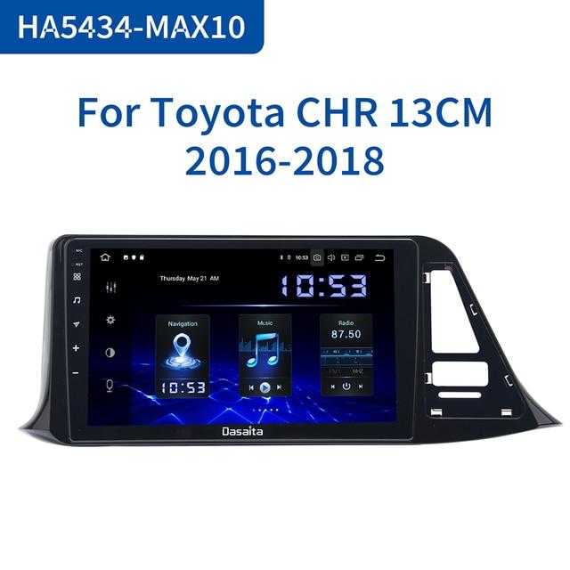 "Dasaita Autoradio 1din Android 10.0 araba radyo Toyota için C HR CHR 2016 2017 2018 GPS araba Stereo 9 ""IPS ekran 64GB ROM"