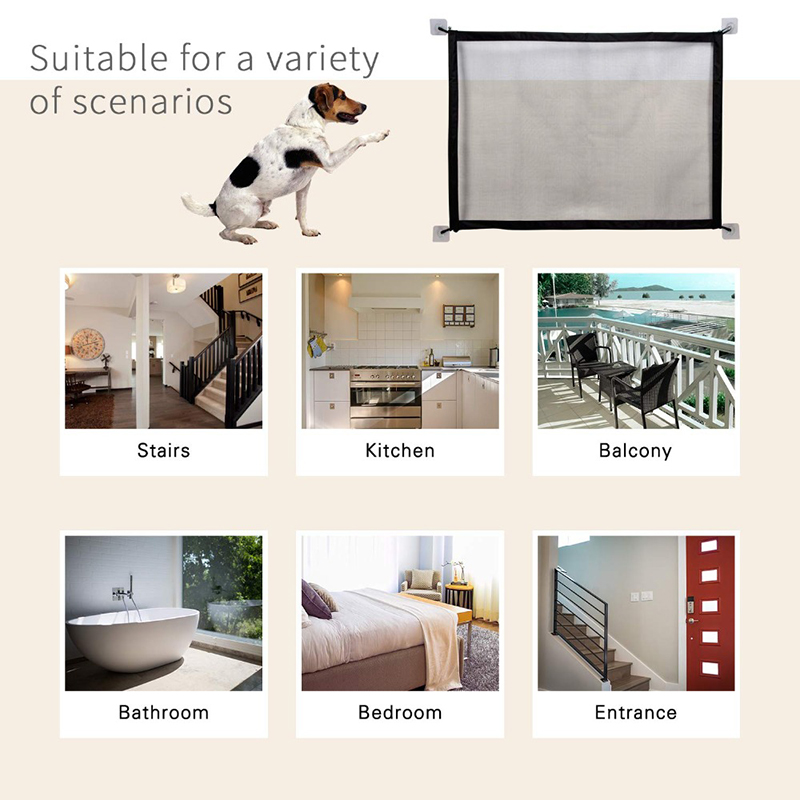 Pet Dog Fences Portable Folding Mesh Safe Guard Indoor and Outdoor Protection Safety Magic Gate For