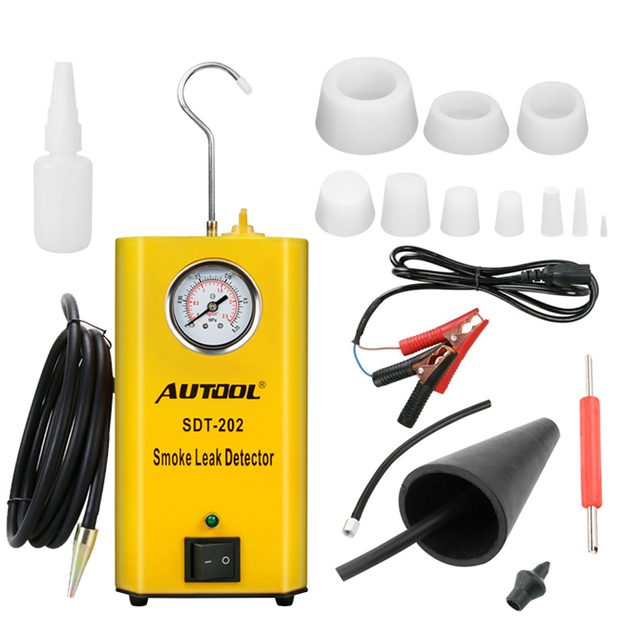 AUTOOL SDT202 Car Smoke Generator Automobile Smoke Leak Detector of Pipe Systems Smoke Leak Tester Pipe Diagnostic Wholesale