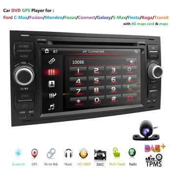 Autoradio Moniceiver DVD Player GPS Bluetooth Navigator for Ford C-Max/Connect/Fiesta/Focus/Fusion/Galaxy/Kuga S-Max Mirror Link image