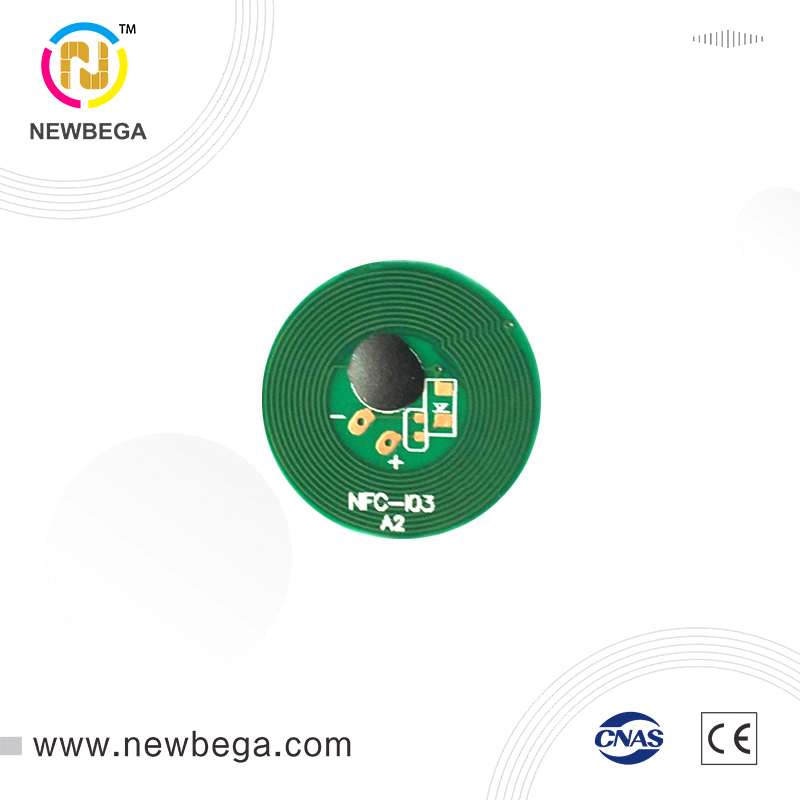 10PCS Miniature Paired NFC Tags High Frequency Resistant Metal RFID Tags