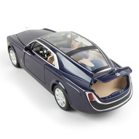 (Boxed) 1:24 simulation Rolls Royce Huiying with sound and light to open the door toy alloy car model ornaments