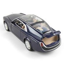 (กล่อง) 1:24 จำลอง Rolls Royce Huiying เสียงและแสงเปิดประตูของเล่นรถชุดเครื่องประดับ