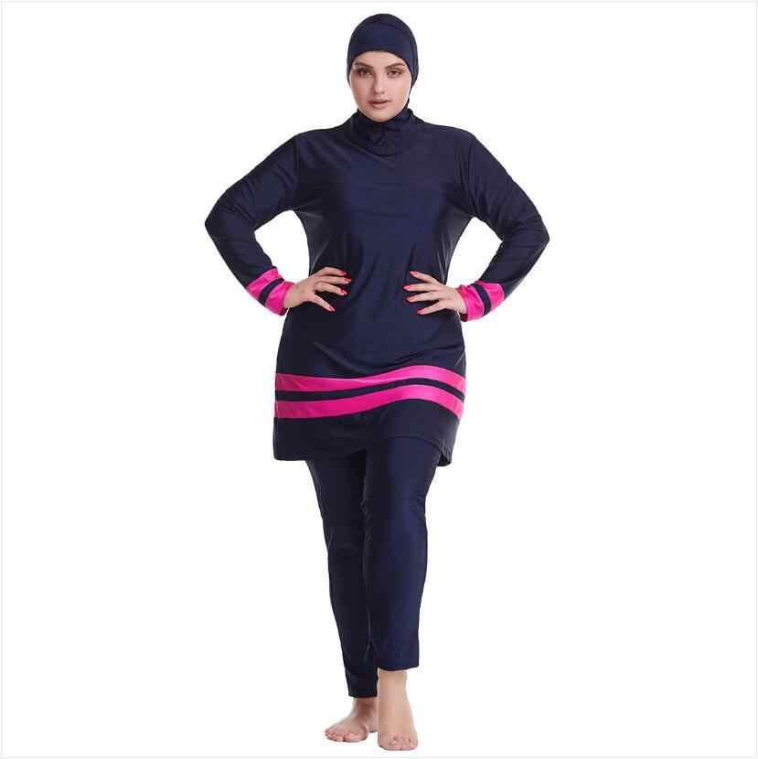 Swimwear Muslim Women Plus Size Swimsuit Islamic Bath Swimming Beachwear Burkini