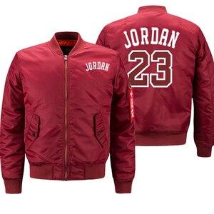 Image 3 - Jordan 23 męskie grube kurtki drukowane męskie płaszcze moda Streetwear bomberka w stylu Casual kurtka zimowa mężczyźni 2019 jesień ciepły płaszcz z suwakiem