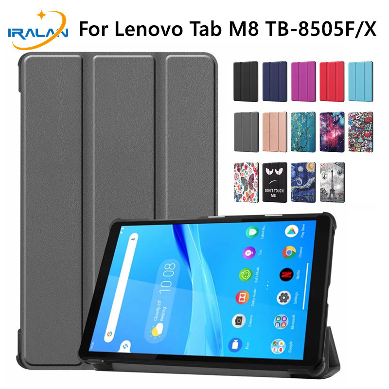 Megnetic Stand Case For Lenovo Tab M8 TB-8505F TB-8505X 8.0 Inch Tablet Funda Capa Cover For Lenovo Tab M8 Case + Tempered Film