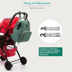 Image 4 - Usb Baby Luiertassen Grote Nappy Baby Tas Upgrade Mode Waterdichte Mummie Zak Moederschap Rugzak Verpleging Handtas Voor Mama