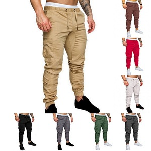 Casual Joggers Pants Solid Col